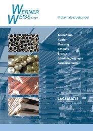 Lagerliste als PDF-Datei... - Werner Weiss GmbH