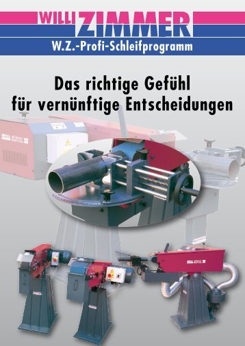 Katalog Schleifprogramm - Willi Zimmer