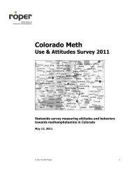 2011 Colorado Meth Use & Attitudes Survey - The Meth Project