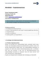 Merkblatt Explosionsschutz - Zenner Ventilatoren GmbH