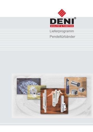 Download PDF-Katalog Lieferprogramm Pendeltürbänder (7 ... - DENI