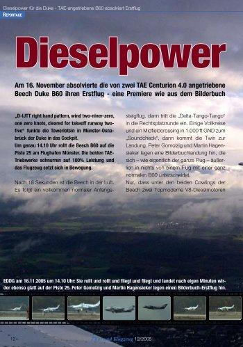 Dieselpower für die Beech Duke B60 ,PuF 2005