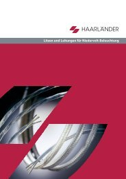 Litzen und Leitungen für Niedervolt-Beleuchtung - Haarländer GmbH