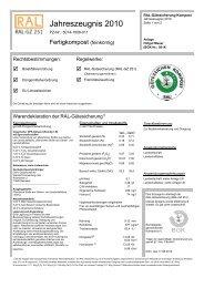 Jahreszeugnis 2010 - GWV Remseck