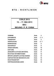 BTG - RICHTLINIEN CISILE 2013 15. – 17. MAI ... - EMCLAB GmbH