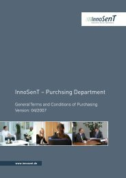 Download Guidelines for Suppliers - Innosent