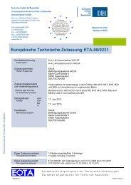 Europäische Technische Zulassung ETA-08/0231 - KALM