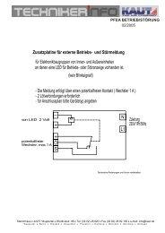 Zuleitung 230V/1Ph/50Hz + + Ö für Elektronikbaugruppen von Innen ...