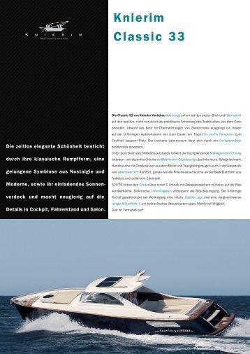 Knierim Classic 33 - KNIERIM Yachtbau GmbH