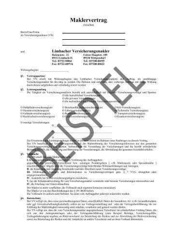 Maklervertrag - LiVM