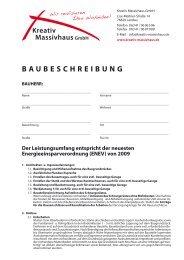 Baubeschreibung Muster Schorn Gmbh Info