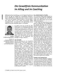 Gewaltfreie Kommunikation - NLP Akademie Schweiz