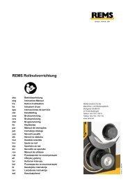 BA Rollnutvorrichtung - REMS WERK