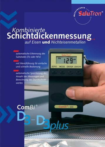 ComBi - D3 (plus) - SaluTron® Messtechnik GmbH