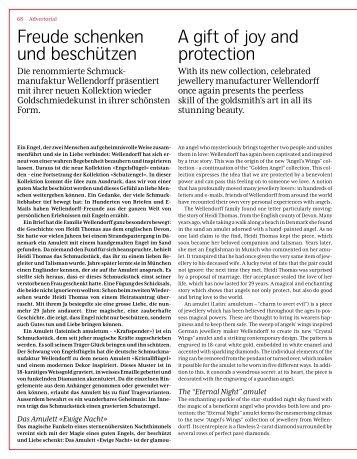 Freude schenken und beschützen A gift of joy and ... - Wellendorff