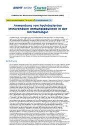 AWMF online - Leitlinien Dermatologie: Anwendung von ...