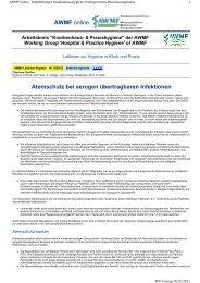 Atemschutz bei aerogen übertragbaren Infektionen AWMF online