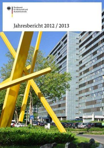 Jahresbericht 2012 / 2013 - Bafa