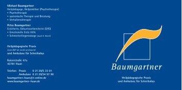 Download pdf (2,43 MB) - Baumgartner - Heilpädagogische Praxis