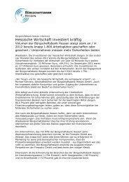 Hessische Wirtschaft investiert kräftig - Bürgschaftsbank Hessen