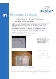 Schüssler Produkt Information - A. Berger GmbH