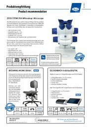 Product recommendation Produktempfehlung - Beco Technic