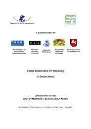 Solare bodennahe UV-Strahlung in Deutschland - Bundesamt für ...