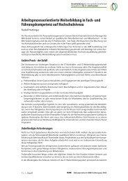 Arbeitsprozessorientierte Weiterbildung in Fach- und ... - BiBB