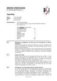 Jugendtag - Bremer Sportjugend
