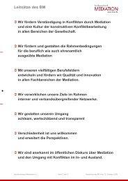 Leitsätze BM - Bundesverband Mediation eV
