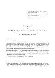 Stellungnahme - Bundesverband Mediation eV
