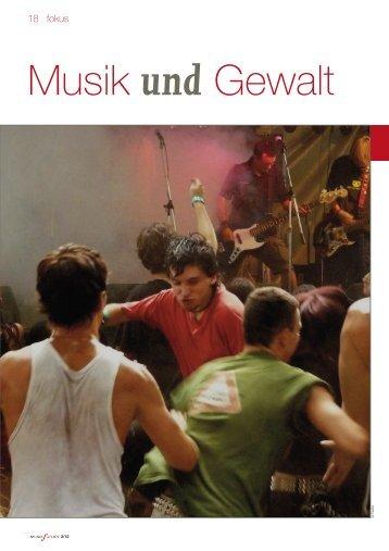 Musik und Gewalt - Bundeszentrale für politische Bildung