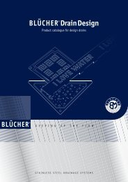 Product catalogue for design drains