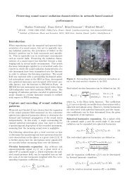 Preserving sound source radiation-characteristics in network ... - iaem