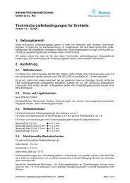 Technische Lieferbedingungen für Drehteile - Brehm ...