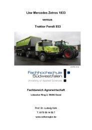 Lkw Mercedes Zetros 1833 versus Traktor Fendt 933 - Harald Bruhns