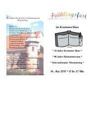 16. Mai 2010 * 11 bis 17 Uhr