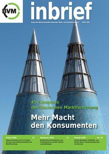 inbrief 28 - Berufsverband Deutscher Markt
