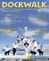 Dockwalk: April 2009 Charter Itinerary - BWA Yachting