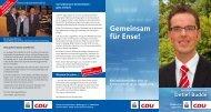 Eine Information der CDU Ense zur Kommunalwahl