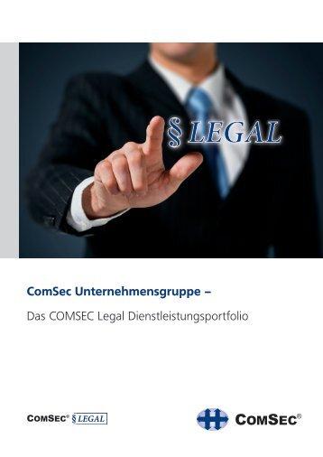 Das COMSEC Legal Dienstleistungsportfolio
