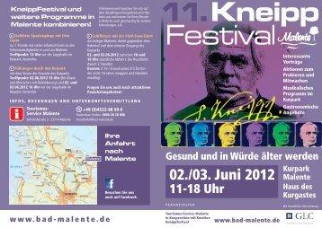 KneippFestival und weitere Programme in Malente kombinieren!