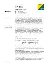 SP 115 Datenblatt - CTM GmbH - Composite Technologie & Material