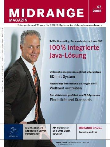 100 % integrierte Java-Lösung - CSS GmbH