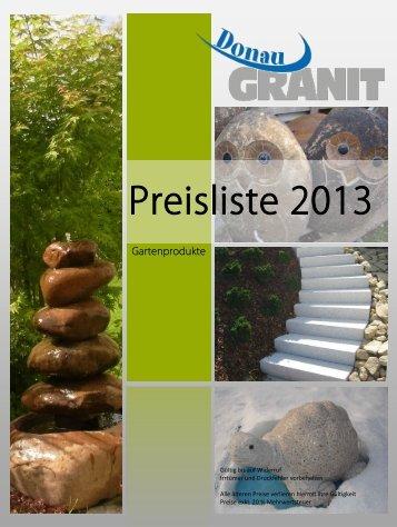 Preisliste 2013 - Donaugranit