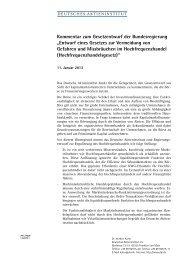 Kommentar zum Gesetzentwurf der Bundesregierung - Deutsches ...