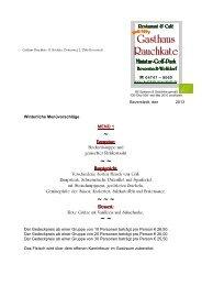 Angebot Menüvorschläge für Winter - Gasthaus Rauchkate