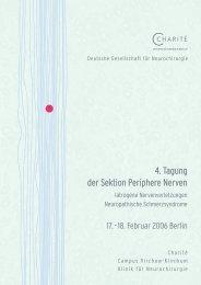 4. Tagung der Sektion Periphere Nerven - Deutsche Gesellschaft für ...