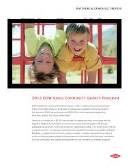 2012 DOW Gives Community Grants Program - The Dow Chemical ...