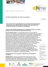 Interview mit Prof. Dr. Sebastian Braun - Deutsche Sportjugend